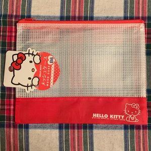 Hello Kitty mesh case zipper from Japan NWT